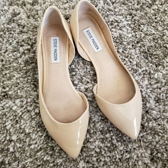 49a3e7ce437 Steve Madden Elusion Nude Patent D'orsey Flats 8